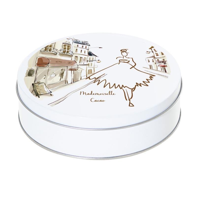 Boîte ronde métallique empilable Caméléon B-12 - Mademoiselle Cacao