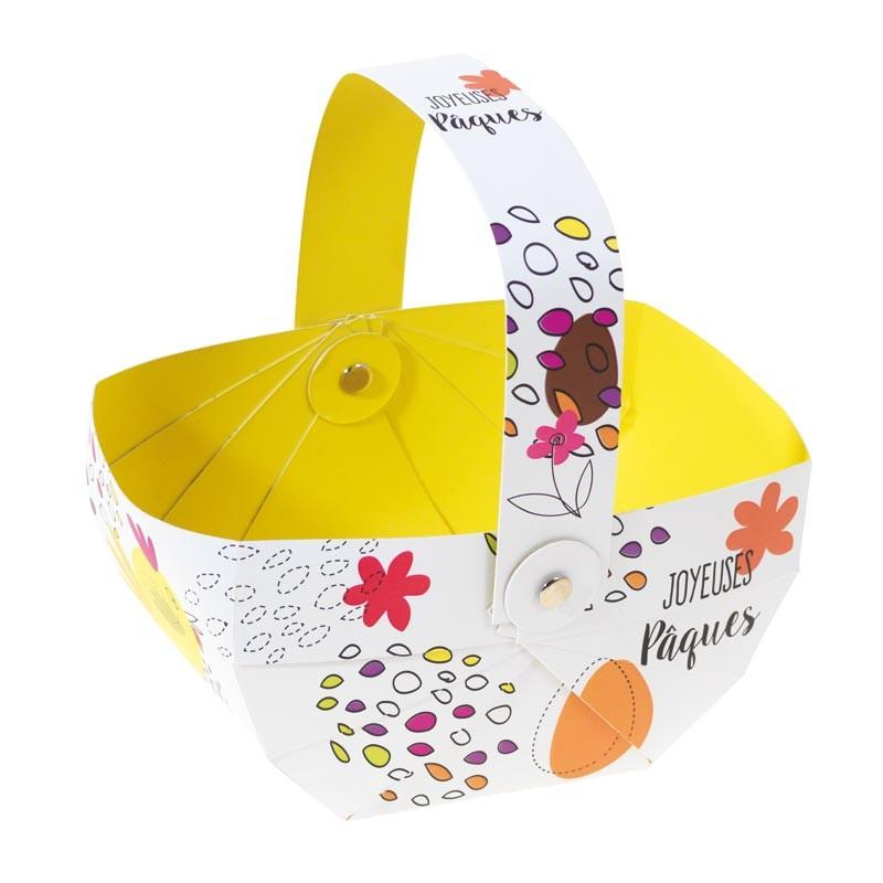 Panier Les Aventures des Jacquotte - Packaging pour chocolatiers pâques