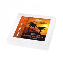 Packaging personnalisé pour rcadeau de retraite version masculine - Carte Caméléon I-48
