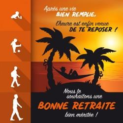 Packaging personnalisé pour cadeau de retraite homme - Carte Caméléon I-48