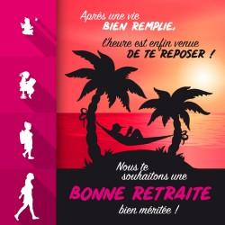 Packaging personnalisé pour cadeau de retraite femme - Carte Caméléon I-48