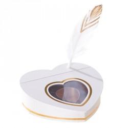 """Coffret écritoire plume - Packaging de luxe pour chocolatiers exigents - Avec accessoire stylo """"plume"""""""