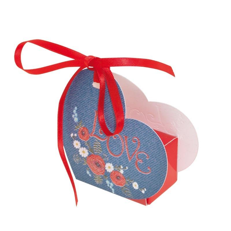 Ballotin Cœur Lov' Forever - Packaging chocolats pour la St-Valentin - Petit modèle