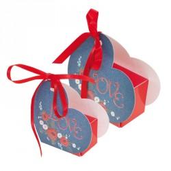 Ballotin Cœur Lov' Forever - Packaging chocolats pour la St-Valentin