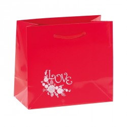"Sac Rouge illustration ""Lov' Forever"" - Packaging de luxe St Valentin"