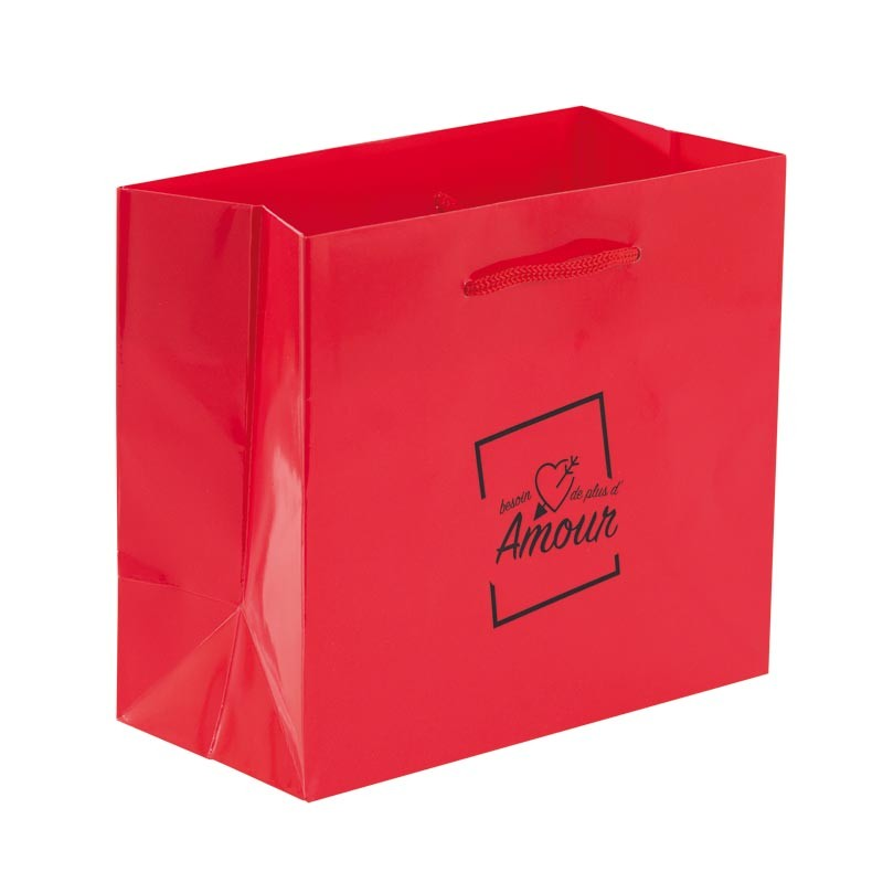 "Sac Rouge illustration ""Besoin d'Amour"" - Packagings Luxe St Valentin"