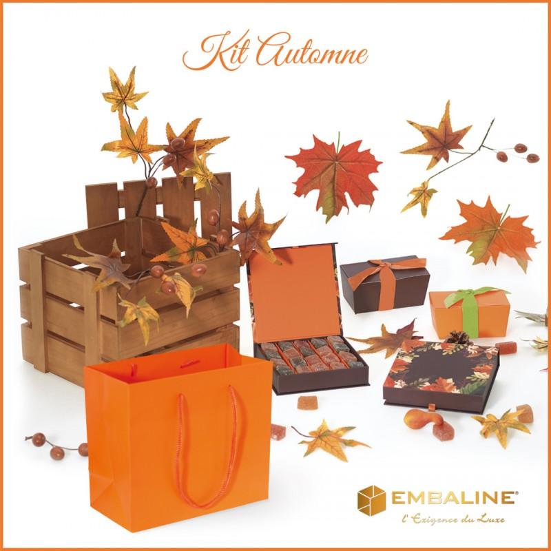 Kit Automne - ensemble de packaging alimentaire pour chocolatiers, pâtissiers et confiseurs
