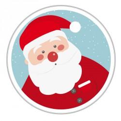Couvercle de Boîte ronde métallique Caméléon G-17 - Illustration Père Noël !