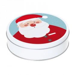 Boîte ronde métallique Caméléon G-17 - Illustration Père Noël !