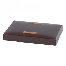 Accessoire pour boîte de luxe pour moulage en chocolat de Pâques - Socle Poule Bicolore : Chocolat et Orange