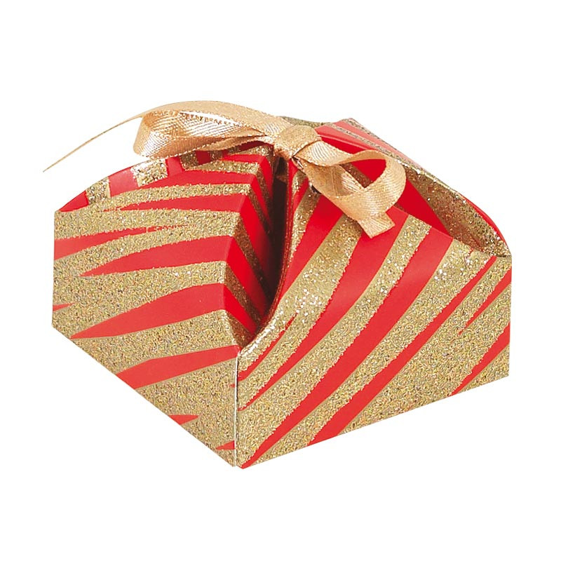 Packaging alimentaire de luxe, petit contenant - Victorine Granity Red and Gold
