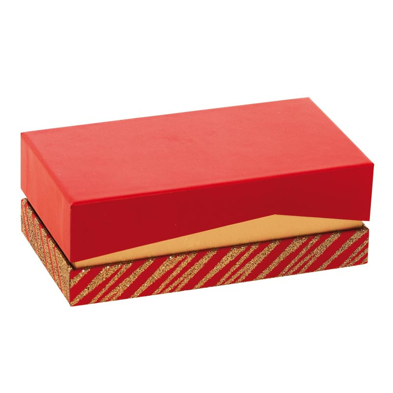 Emballage grand luxe pour chocolatiers pâtissiers - Balzac Granity Red and Gold