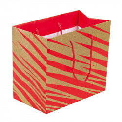 Packaging pour artisans chocolatiers - Sac cabas Granity Red and Gold - Derrière du Sac