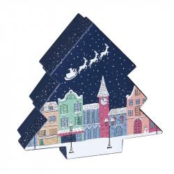 Boîte Sapin Santa Claus - Magie d'un packaging de Noël phosporescent !