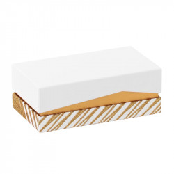 Emballage grand luxe pour chocolatiers pâtissiers - Balzac Granity White and Gold