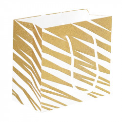 Packaging pour artisans chocolatiers - Sac cabas Granity White and Gold - Derrière du Sac