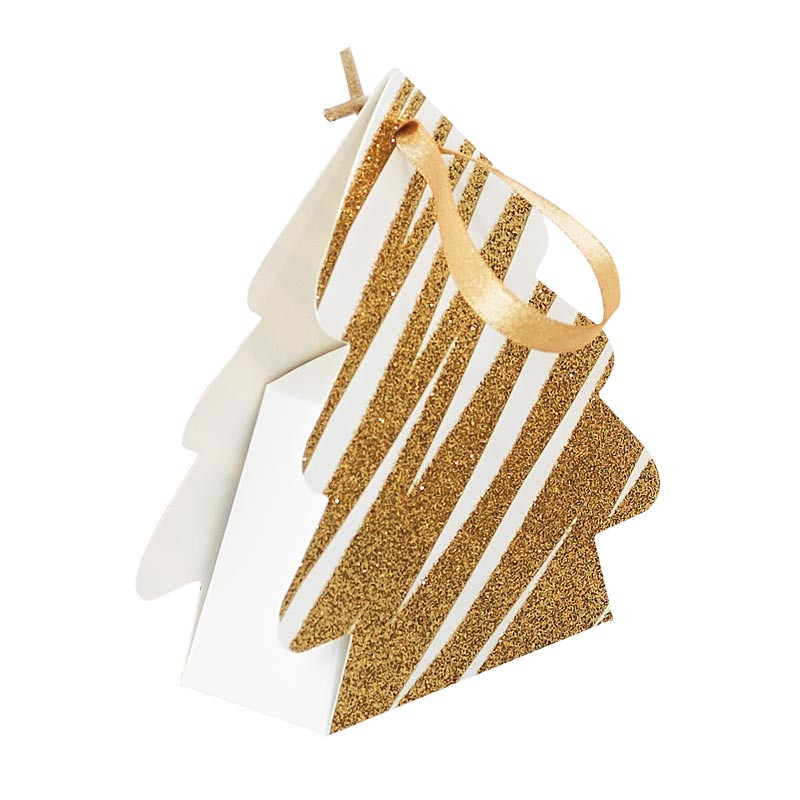 Packaging alimentaire petit contenant - Sapin Granity White and Gold - Petit Modèle