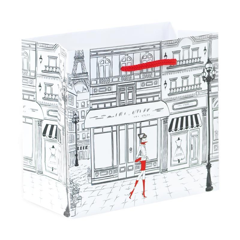 Packaging de luxe pour artisans chocolatiers - Sac cabas Magic Snow