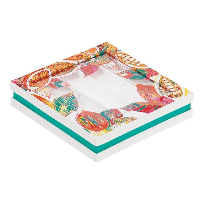 Boîte carrée luxueuse pour chocolats ou confiseries - Du Bellay Cacoa