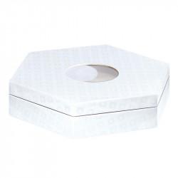Boîte hexagonale Caméléon - Packaging pouvant accueillir une boule à neige