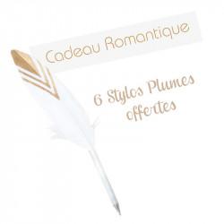 6 stylos plumes offerts - Cadeau Romantique !