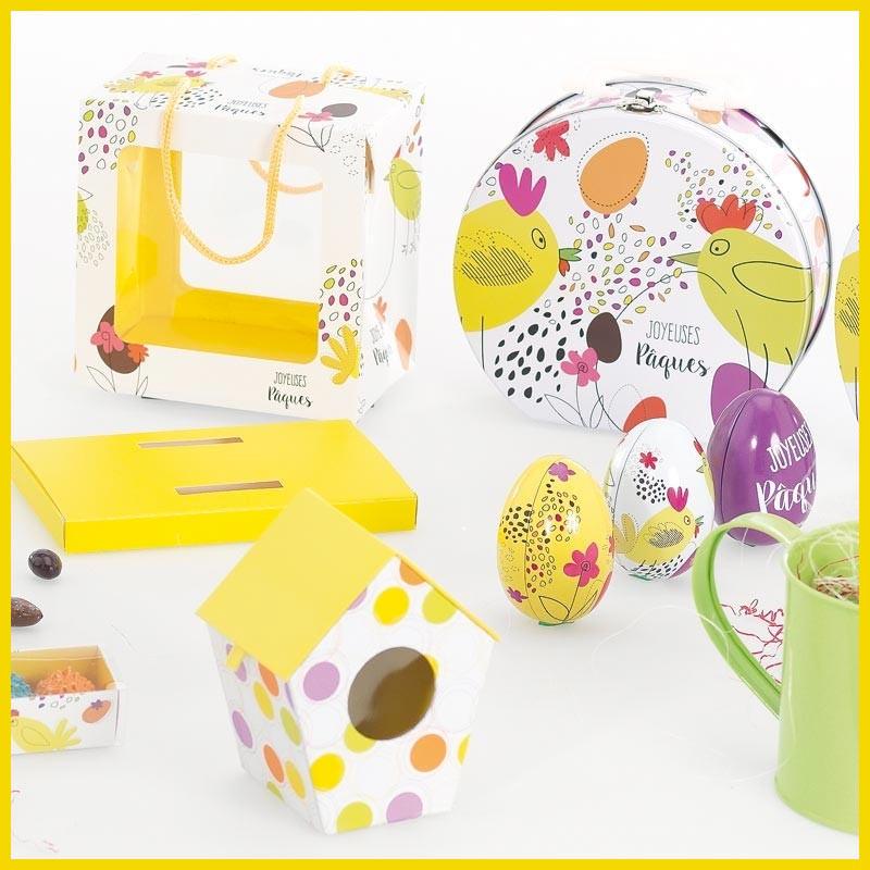 Kit Déco Jacquotte - Lot de Packagings pour chocolatiers / Vitrine de Pâques