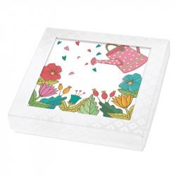 Packaging personnalisable arrosoir et fleurs - Carte Caméléon C-12