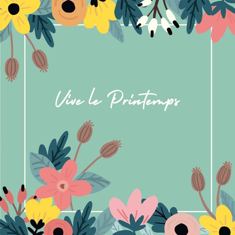 Packaging personnalisable composition florale - Carte Caméléon C-15