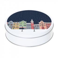 Boîte ronde métallique G-20 - Packaging à offrir à Noël !