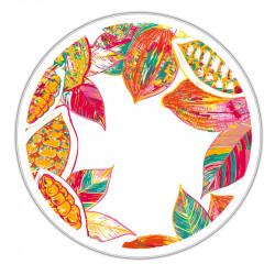 Boîte ronde métallique Caméléon B-09 - Composition florale printanière