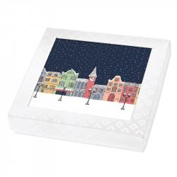 Packaging de Noël phosphorescent pour chocolats - Carte Caméléon G-20
