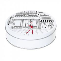 Boîte ronde empilable métallique Caméléon B-01 - Collection Magic Snow