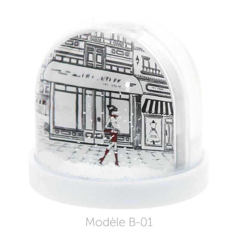 Boule à Neige Caméléon - Packaging personnalisable avec carte B-01