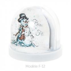 Boule à Neige Caméléon - Packaging personnalisable avec carte F-12