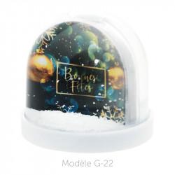 Boule à Neige Caméléon - Packaging personnalisable avec carte G-22