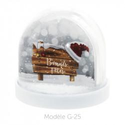 Boule à Neige Caméléon - Packaging personnalisable avec carte G-25