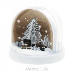 Boule à Neige Caméléon - Packaging personnalisable avec carte G-26