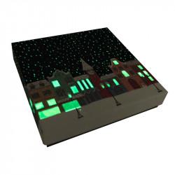 Packaging de luxe pour chocolatiers, pâtissiers et confiseurs - Molière Santa Claus phosphorescente, elle brille dans la nuit !