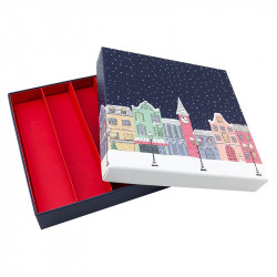 Packaging de luxe pour chocolatiers, pâtissiers et confiseurs - Molière Santa Claus ouverte