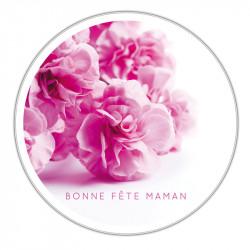 Boîte ronde métallique Caméléon I-17 - Bonne fête maman avec des roses
