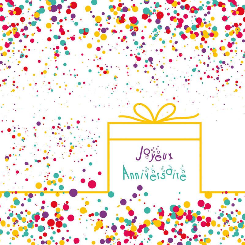Packaging personnalisé Joyeux anniversaire pour chocolatiers / pâtissiers / confiseurs - Carte Caméléon I-52