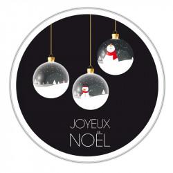 Boîte métallique Caméléon G-27 - Illustration boules à Neiges de Noël
