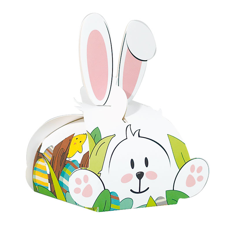 Arsène Cache Cache - Packaging en forme de lapin pour chocolats de Pâques