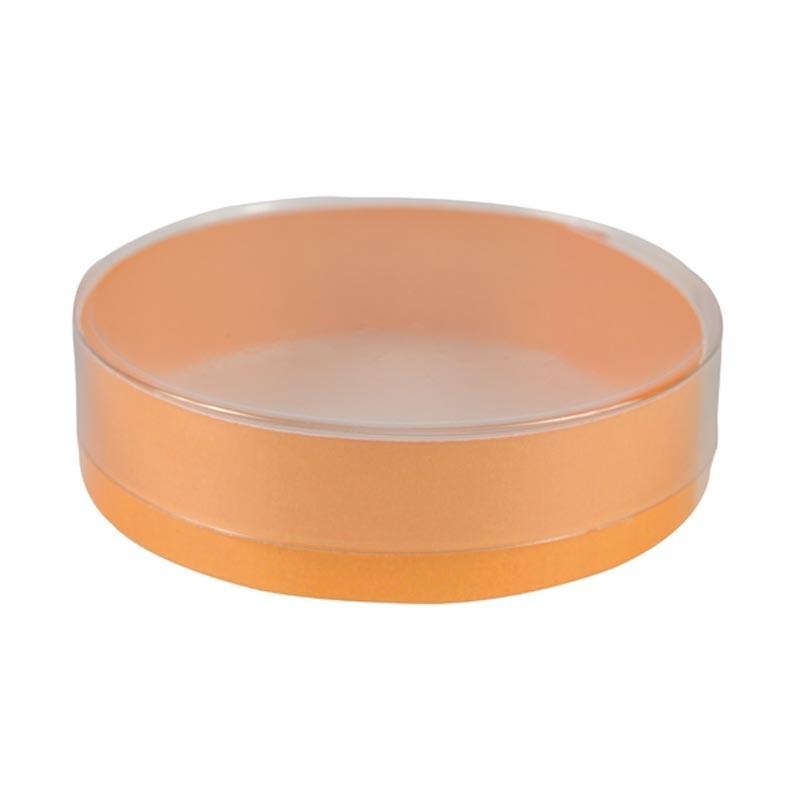 Boîte ronde PVC avec cercle orange
