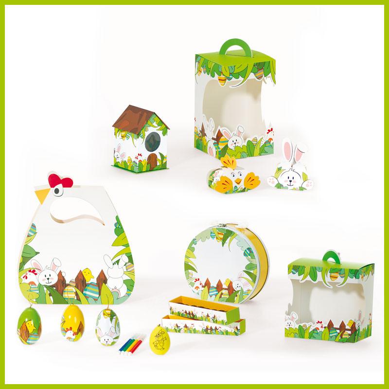 Kit Cache Cache - Gamme de Packagings de Pâques Luxe pour chocolatier