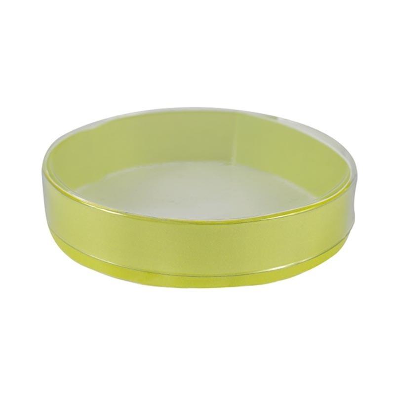 Boîte ronde PVC avec cercle vert