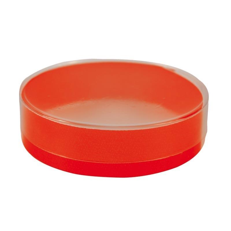 Boîte ronde PVC avec cercle rouge