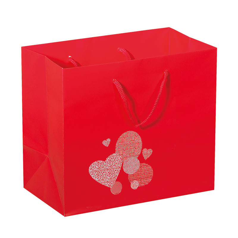 """Sac Rouge illustration """"Passion"""" - Packagings Luxe St Valentin"""