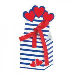 "Charline ""Lovely Navy"" - Packaging Saint Valentin tendance marine"