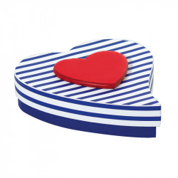 "Boîte Cœur Goutte ""Lovely Navy"" - Expert en Packaging Saint Valentin !"